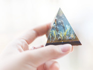 雨季 金字塔型摆件 镇纸