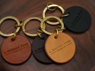 arunningdeer头层牛皮植糅 手工皮具 黄铜钥匙牌 车钥匙