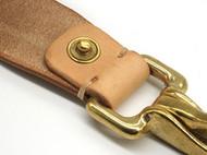 arunningdeer头层牛皮植糅 手工皮具 钥匙扣 黄铜钥匙牌 装饰皮扣