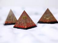 粉红色的回忆 金字塔摆件 镇纸