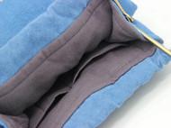 刺子绣半圆型手挽包