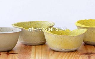 彩沙混凝土碗DIY