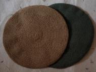 手织纯棉贝雷帽