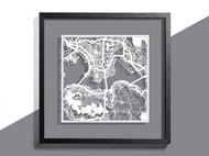 O3设计城市纸雕地图