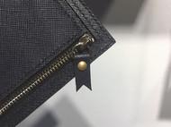 深蓝色拉链小卡包