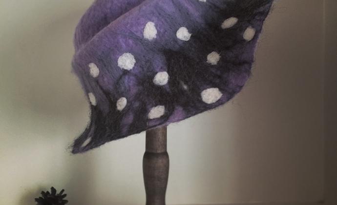 羊毛毡细粒波点小礼帽