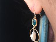 一半手作| 复古风 随形珍珠耳环 耳坠14块包金