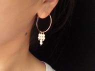 一半手作|14k包金随形珍珠耳坠