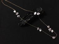 一半手作|随形天然灰珍珠项链 毛衣链
