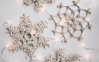 「macrame圣诞雪花」第二款图文