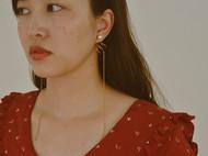 长长长款黄铜耳钉