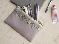 玫瑰花边化妆包/笔袋