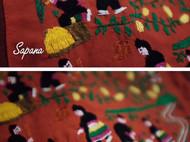 △ 原创设计泰国手工刺绣撞色布包