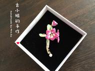立体刺绣……瓢虫花胸针
