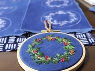圣诞花环刺绣