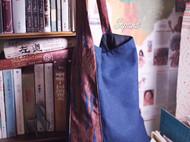 △原创领带包,简单棉麻单肩包