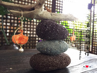 立体刺绣-银杏14k包金耳环
