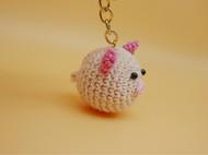 【猪年大吉】一个碗猪事顺利DIY钩编手工粉色猪猪挂件钥匙扣