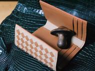 编织三折钱包