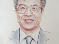 彩铅风格的刺绣人物肖像