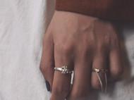 简约肌理组合戒指