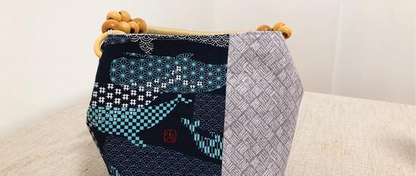蓝鲸撞色拎包