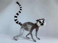 环尾狐猴仿真动物羊毛毡