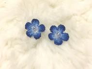 耳钉,小蓝花