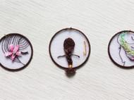 立体刺绣书签-女孩系列