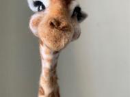羊毛毡长颈鹿 羊毛毡动物博物馆