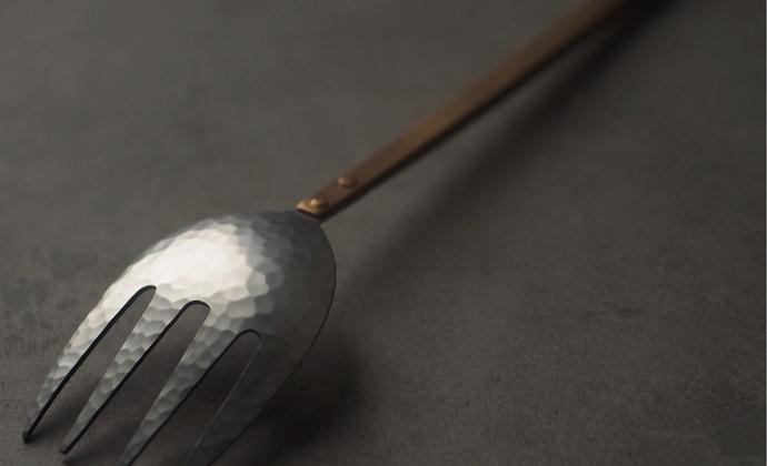 【已外】手工制作不锈钢+黄铜正餐叉子