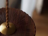 【已外】手工制作 黄铜+黑胡桃木吊灯木制灯具