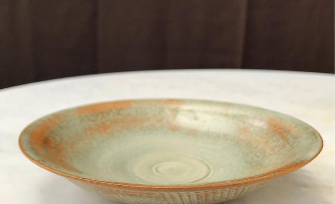 日式侘寂 志野烧  陶盘 果子盘 沙拉盘 点心盘 皿 窑变