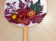 花艺团扇DIY