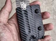 美工刀 碳纤维纹路 Kydex 刀鞘