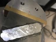 手工雕刻银戒指