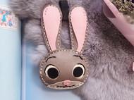 猫咪家纯手工 兔子朱迪 法羊皮 钥匙扣 背包扣