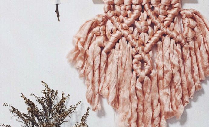 手工编织挂毯 温柔