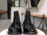 水洗马皮靴