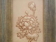 皮雕牡丹图