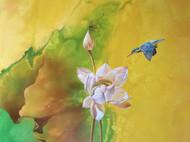 油画作品(出淤泥而不染·01)90cm*90cm
