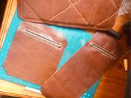 手缝男士单肩斜挎包,复刻日本Herz胸包