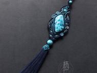 海纹石手工编绳车挂设计
