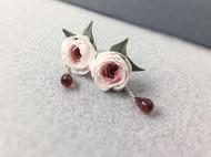 加百列玫瑰耳钉,自己原创设计的