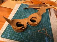 飞行帽套装➕机车面罩