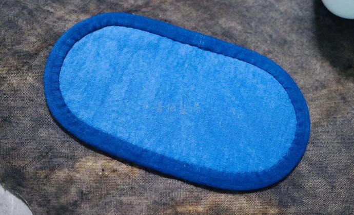 蓝染纯棉拼布印花茶席布艺桌旗茶布茶杯垫禅意中式复古民族风