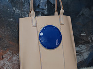 手提包-皮革与瓷片的结合