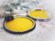 原创手工刺绣珠盘