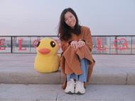 和我编织的大鸭鸭合个影
