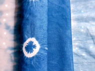 靛蓝染扎染茶席
